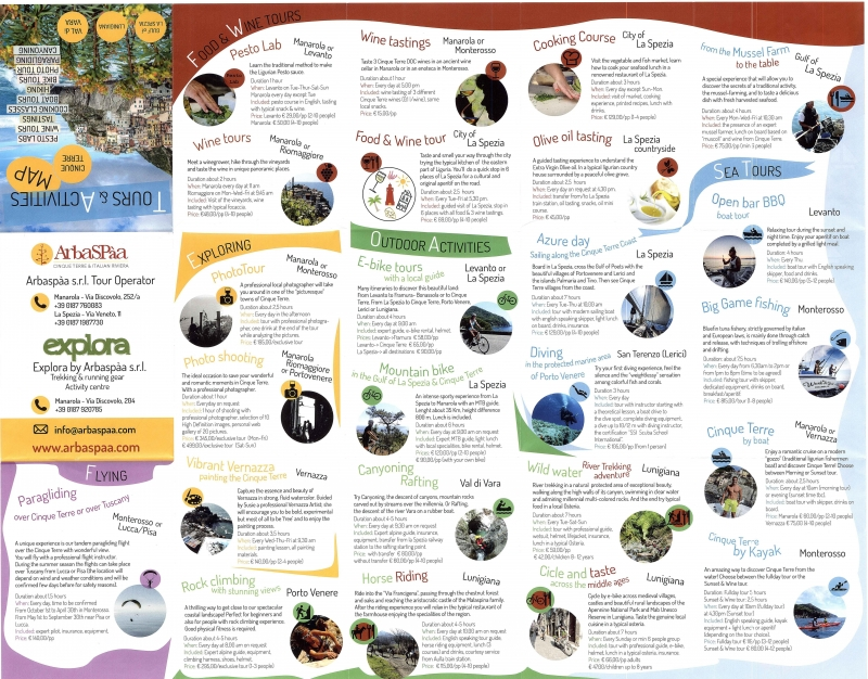 Arbaspàa Tour Brochure grande